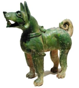 A lot of life-live clay dogs have excavated from the ancient tombs in China, dating back to 200 BC or earlier.
